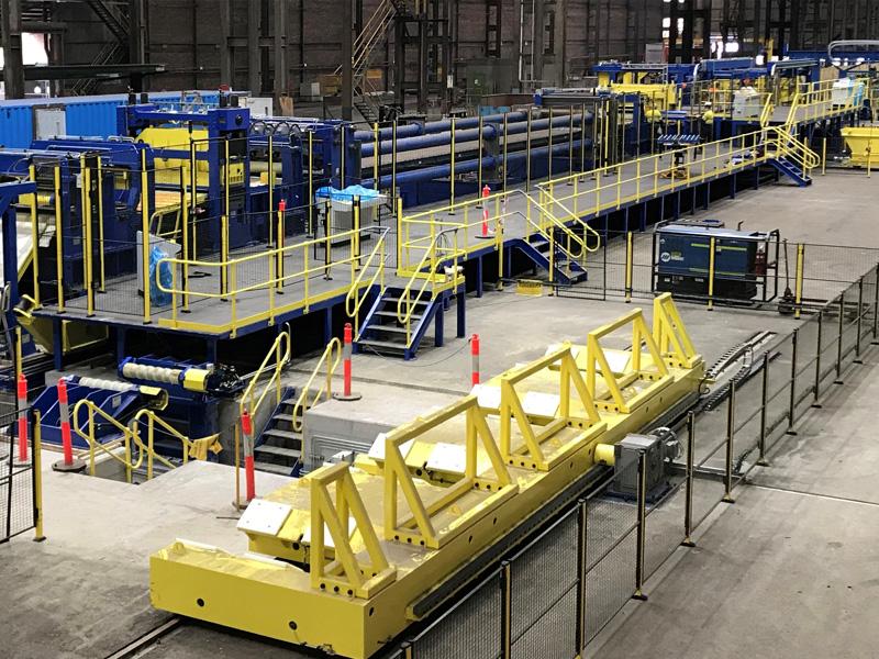Entra en producción la línea de aplanado por estirado, CTL-1800×6 suministrada junto con LEVELTEK