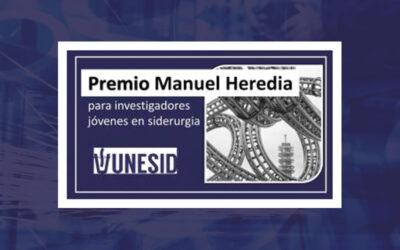 UNESID convoca el Premio Manuel Heredia a la investigación en materia siderúrgica
