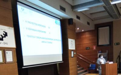 Presentación de los proyectos del Aula Room4steel a los estudiantes de la UPV-EHU